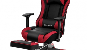BlitzWolf® BW-GC5 Gaming Chair Ergonomic Design 180°Max Reclining 4D Adjustable Armrest Thicken Spring Cushion with Footrest for Home Office in offerta a €93.43 || Banggood – Selezionare Magazzino Europa – Consegna Rapida