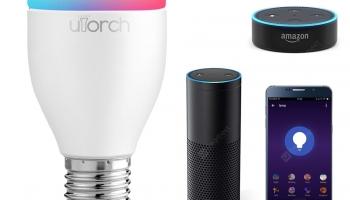 Utorch LE7 E27 WiFi Lampadina Intelligente LED App / Controllo Vocale 1 Pezzo in offerta a €9.14 || Gearbest