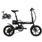 CMSBIKE F16 36V 7.8AH 250W Black 16 Inches Folding Electric Bicycle 20km/h 65KM Mileage Intelligent Variable Speed System in offerta a €482.62 || Banggood