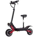 JANOBIKE T85 28.6AH 60V 2800Wx2 Motor Foldable Electric Scooter With Saddle in offerta a €984.96 || Banggood