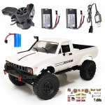 WPL C24 1/16 2.4G 4WD Crawler RTR Truck RC Car Full Proportional Control Two/Three Battery in offerta a €45.81 || Banggood