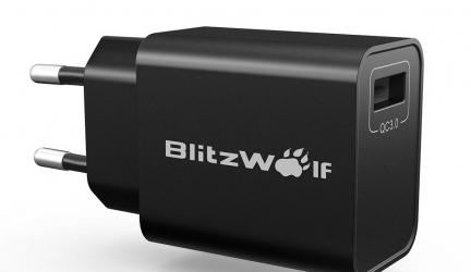 BlitzWolf® BW-S9 18W USB Charger EU US UK AU Adapter in offerta a €5.39 || Banggood